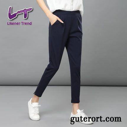 speziell für Schuh 100% original weich und leicht Hosen Mit Gummizug Damen Weinrot, Stoffhose Damen Blau Verkaufen