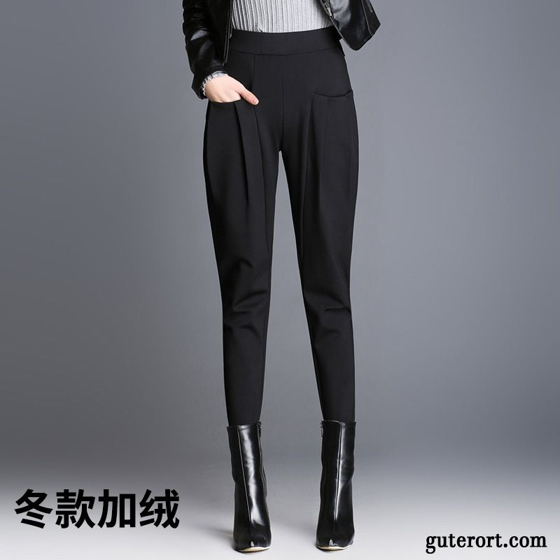 Damen stoffhosen mit gummizug
