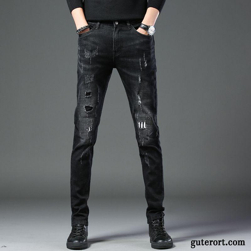 Jeans Schwarz Löcher