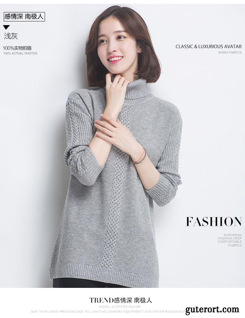 low priced 4c15b c6e3b Warme Pullover Damen Grau, Damen Pullis Günstig Kaufen
