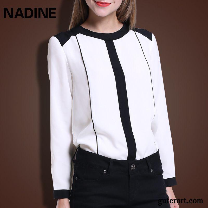 51c9067ad238 Festliche Longblusen Rosa, Weiße Bluse Schwarzem Kragen Kaufen