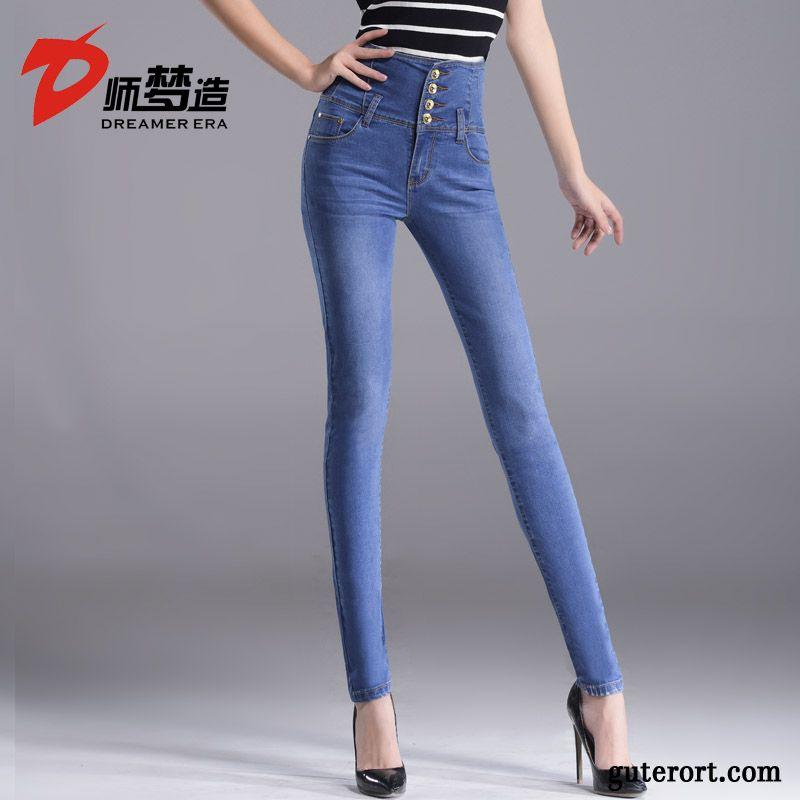 graue boyfriend jeans jeans mit kn pfen damen blond. Black Bedroom Furniture Sets. Home Design Ideas