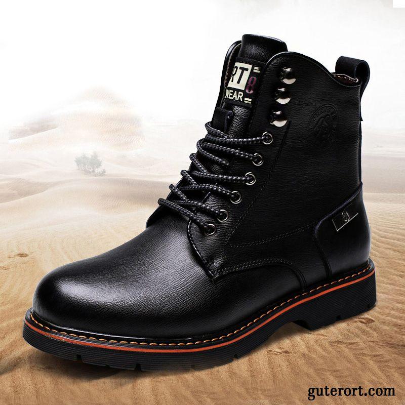 new product 939b6 c6413 Herren Boots Braun Hellfarbig, Lederstiefel Herren Schwarz Sale