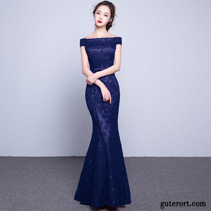Damen kleid blau mit punkten