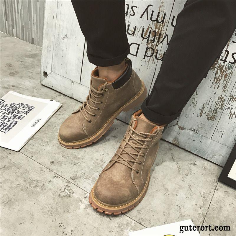 32fed39b8a605c Schuhe Leder Stiefel Braun Herren Klettverschluss Boots qgSwx1Fgt