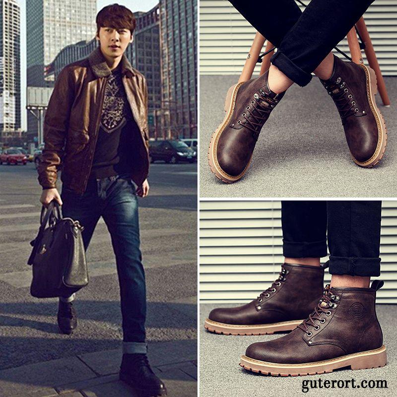 new product 62863 cd7aa Leder Winterschuhe Herren Rabatt, Stylische Herren Boots ...