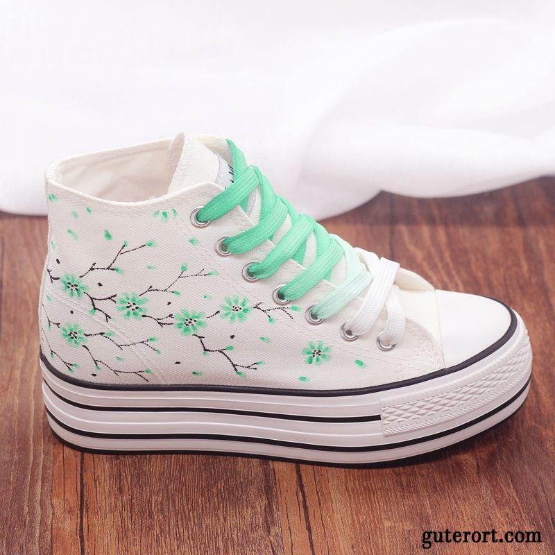 Mode Schuhe Damen Blumenmuster Sale, Turnschuhe Blau Damen