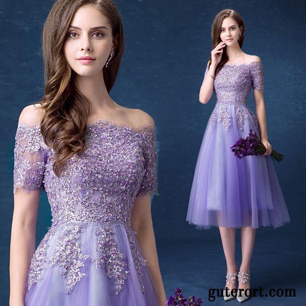 fcdcdfa1710f Mode Sommerkleider Günstig, Damen Kleid Blau Violett