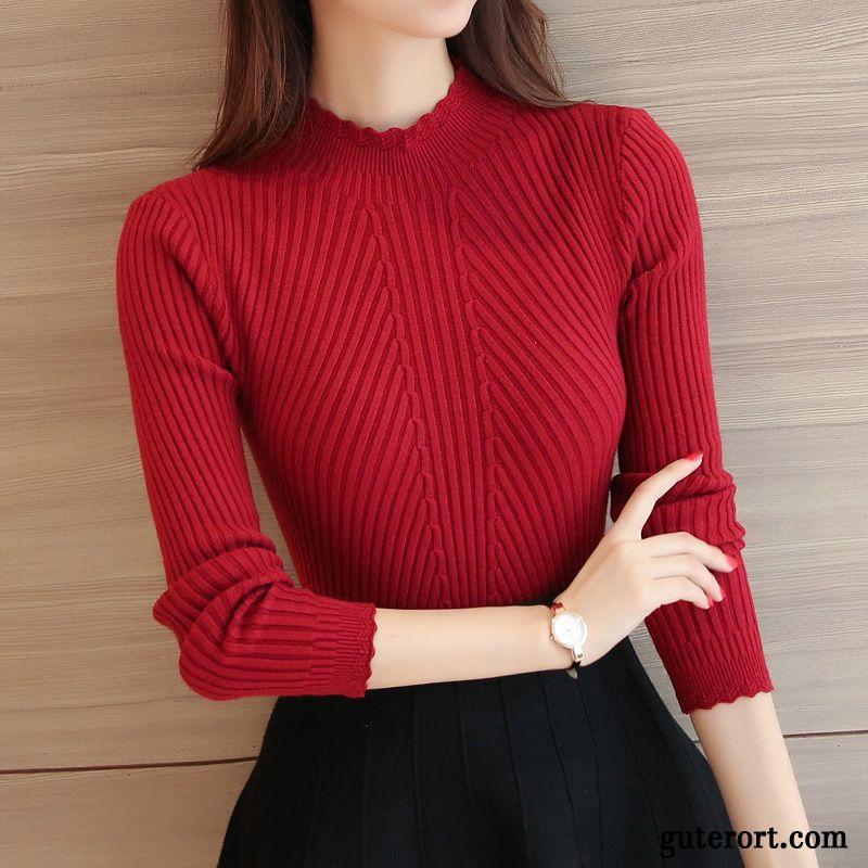 online store 982d5 2ab6c Strick Rollkragenpullover Damen Rosarot, Khaki Pullover ...