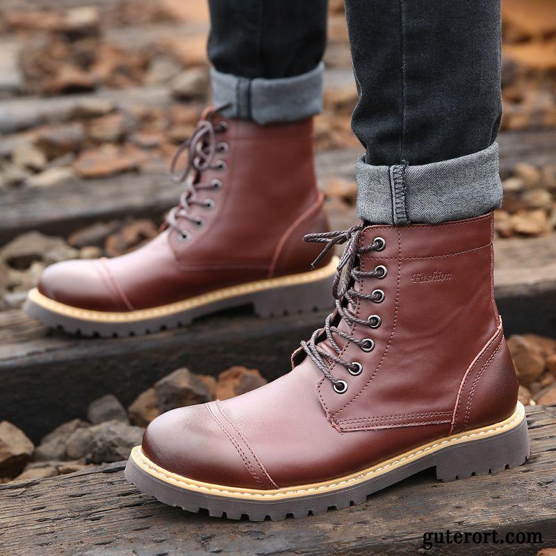new style ece49 1458a Winterschuhe Herren Schwarz Stiefel Lachsrosa, Schuhe Grau ...